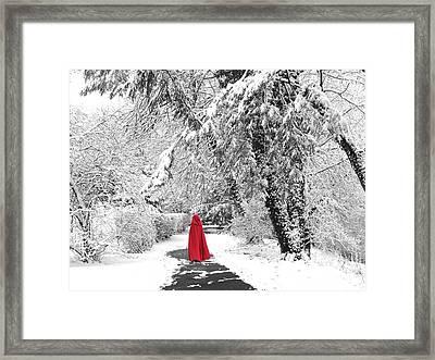 Winter Wonderland Walk II Framed Print by Jessica Jenney