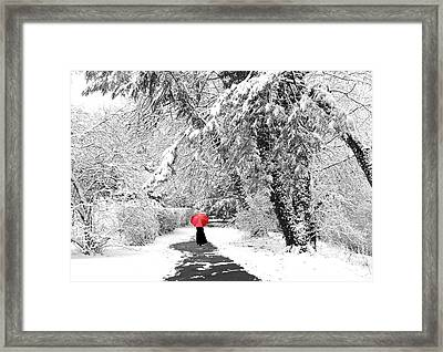 Winter Wonderland Walk Framed Print