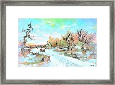 Winter Wonderland Framed Print by Wayne Pascall