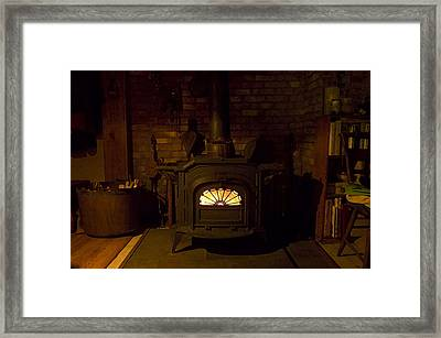 Winter Wood Warmth Framed Print