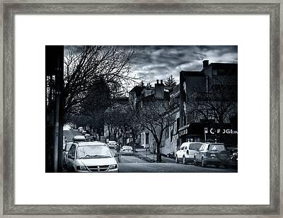 Winter Yew Street Framed Print by Paul Kloschinsky