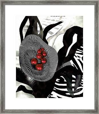 Winterberries Framed Print by Sarah Loft