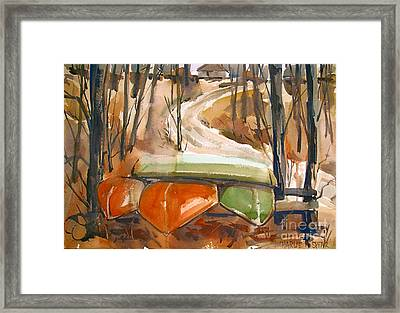 Framed Print featuring the painting Wintering Over by Charlie Spear