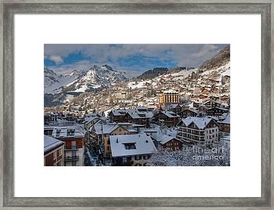 Winterland Engelberg Framed Print by Caroline Pirskanen