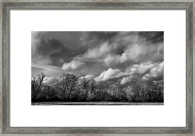 Winter's Arrival Framed Print