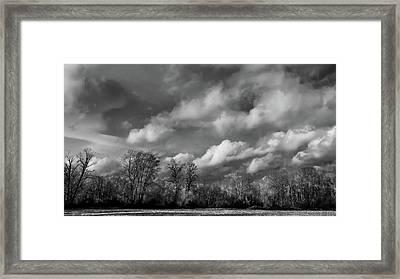 Winter's Arrival Framed Print