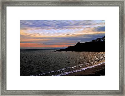 Winter's Beachcombing Framed Print