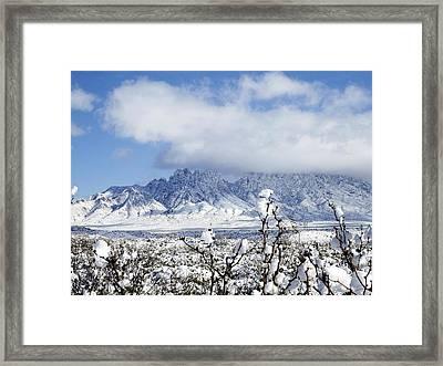 Framed Print featuring the photograph Organ Mountains Winter Wonderland by Kurt Van Wagner