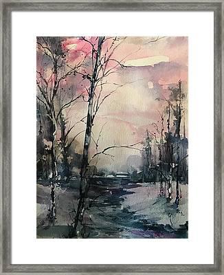 Winter's Blush Framed Print