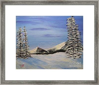 Winters Chill Framed Print by Todd Androy