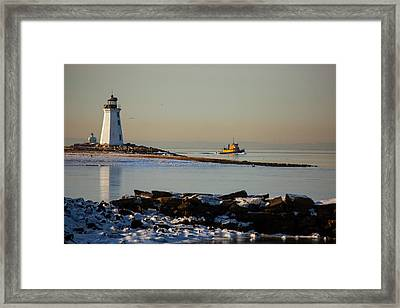 Winters Coast Framed Print by Karol Livote
