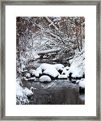 Winters Crossing Framed Print by Scott Wyatt