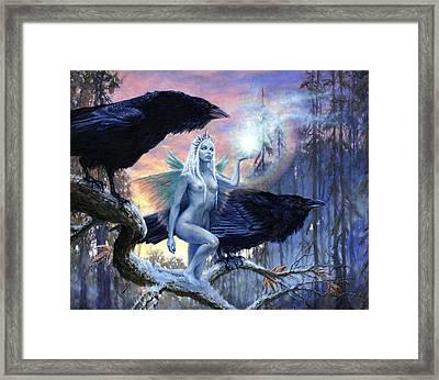 Winter's Dark Heralds Framed Print by Richard Hescox
