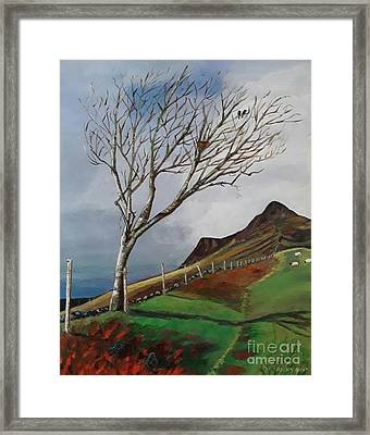 Winter's Day At Yewbarrow -painting Framed Print