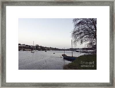 Winter's Day Dusk In Mylor Bridge Framed Print by Terri Waters
