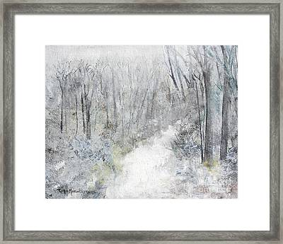 Framed Print featuring the painting Winter's Day by Robin Maria Pedrero