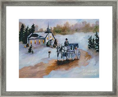 Framed Print featuring the painting Winters Dream by Brenda Thour