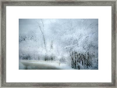 Winters Dreamy Landscape Framed Print by Julie Palencia