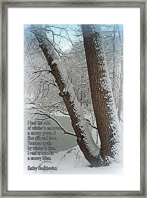 Winters Embrace Framed Print