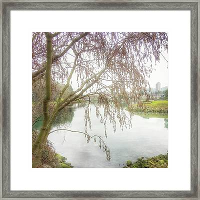 Framed Print featuring the photograph Winter's  End  by Connie Handscomb