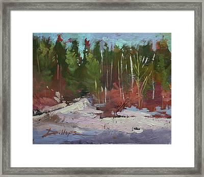 Winter's Eve Framed Print