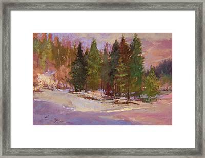 Winter's Eve Plein Air Framed Print