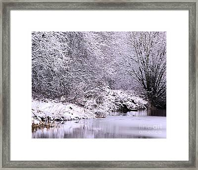 Winters First Icy Breath Framed Print by Baggieoldboy