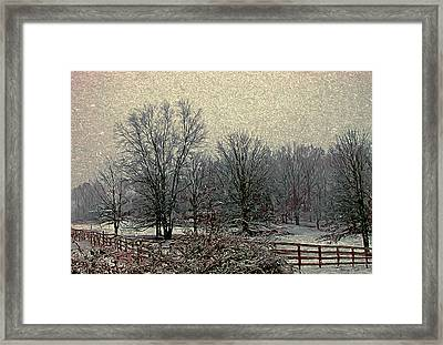 Winter's First Snowfall Framed Print by Bellesouth Studio