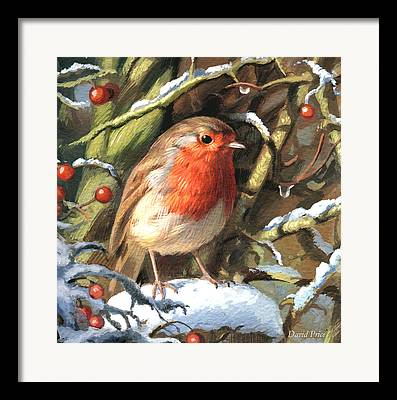 Christmas Greeting Paintings Framed Prints