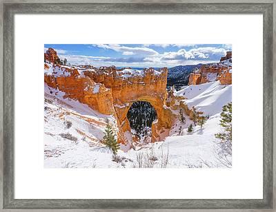 Winter's Gate Framed Print