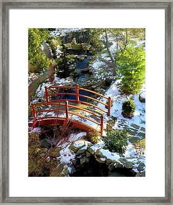 Winter's Goodbye Framed Print by Karen Wiles