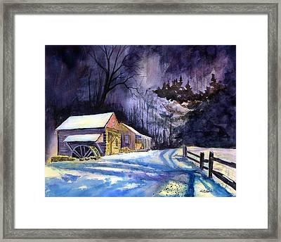 Winter's Grip Framed Print by Paul Temple