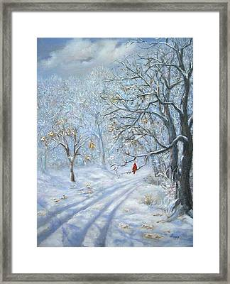 Winter's Guest Jockey Hollow New Jersey Framed Print by Luczay