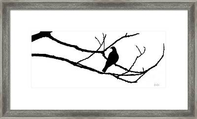 Winter's Hand And Spring's Dove Framed Print