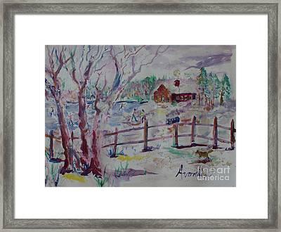 Winter's Joys Framed Print