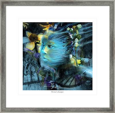 Winter's Keeper Of The Garden Framed Print by Bob Salo