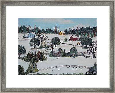 Winters Last Snow Framed Print