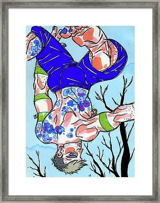 Winter's Leap Framed Print