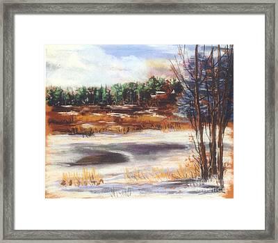 Winter's Light Framed Print by Sandy Sereno