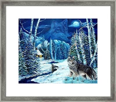 Winters Night 2 Framed Print by Darlene Green