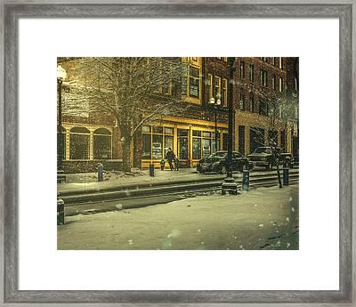 Winters Night Framed Print