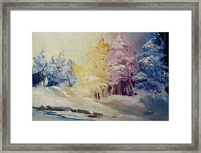 Winter's Pride Framed Print