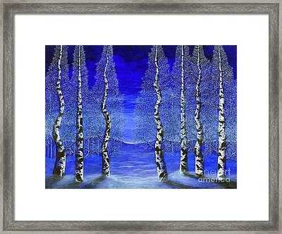 Winters Raven Aspen Framed Print