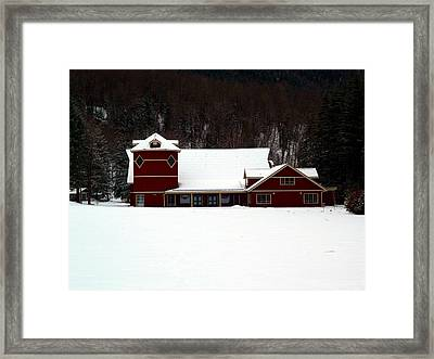 Winters Red Framed Print