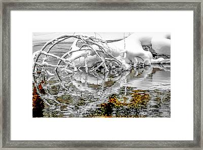 Winters Reflections Framed Print by Optical Playground By MP Ray