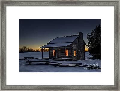 Winters Refuge Framed Print
