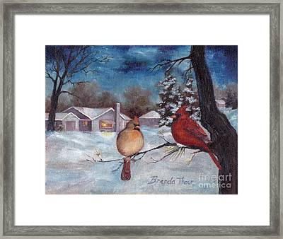 Winters Serenity Framed Print by Brenda Thour