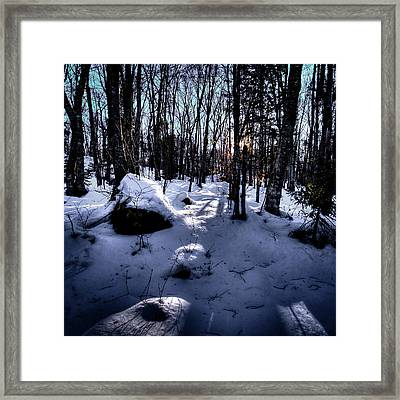 Framed Print featuring the photograph Winters Shadows by David Patterson