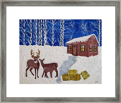 Winters Silence Framed Print by Joseph Frank Baraba
