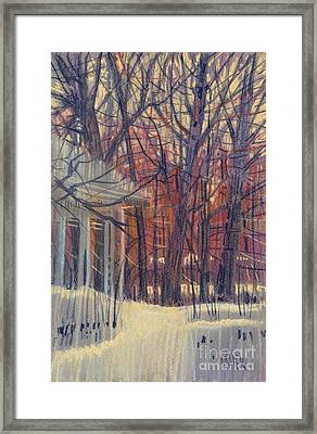 Winter's Snow Framed Print by Donald Maier
